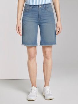 Lina denim shorts met gerafelde zoom rand - 1 - TOM TAILOR Denim