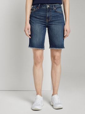 Lina denim shorts met gerafelde zoom rand - 1 - TOM TAILOR Denim