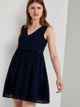 Kleid mit Knopfleiste und V-Ausschnitt - 5 - TOM TAILOR Denim
