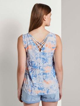 Blouse met print en detail aan de achterkant - 2 - TOM TAILOR Denim