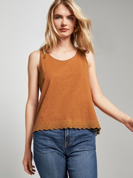 Relaxed Top met Kanten Trim - 5 - TOM TAILOR Denim