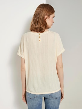 T-shirt met elastische tailleband - 2 - TOM TAILOR Denim