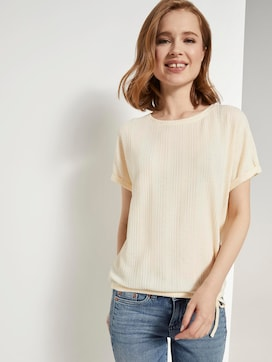 T-shirt met elastische tailleband - 5 - TOM TAILOR Denim