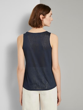 Stromende top met knopen - 2 - TOM TAILOR Denim