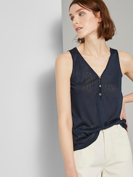Stromende top met knopen - 5 - TOM TAILOR Denim