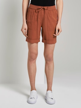 Loose-fit Bermuda shorts with an elastic waistband - 1 - TOM TAILOR