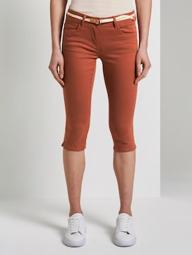 Alexa slim lyocell-blend capri trousers - 1 - TOM TAILOR