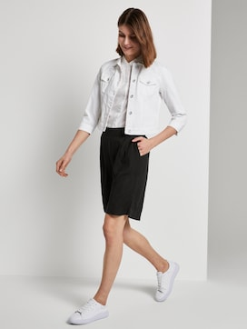 Loose-fit Bermuda shorts with an elastic waistband - 3 - TOM TAILOR
