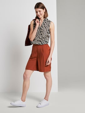 Loose fit Bermuda shorts met elastische tailleband - 3 - TOM TAILOR
