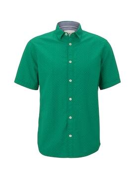 Herren Gemustertes Kurzarm-Hemd, grün