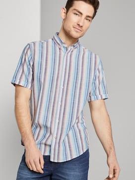 Hemd met korte mouwen en streeppatroon - 5 - TOM TAILOR