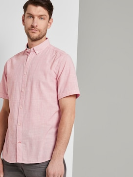 Short-sleeved shirt with a striped pattern - 5 - TOM TAILOR