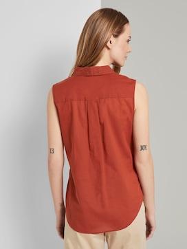 Ärmellose Henley-Bluse mit Seitenschlitzen - 2 - TOM TAILOR