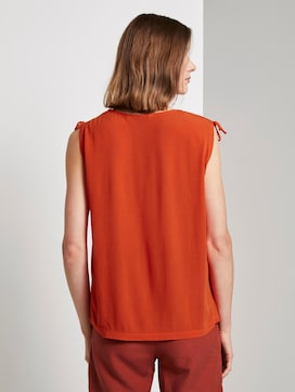 Ärmellose Bluse mit Schulterdetail - 2 - TOM TAILOR