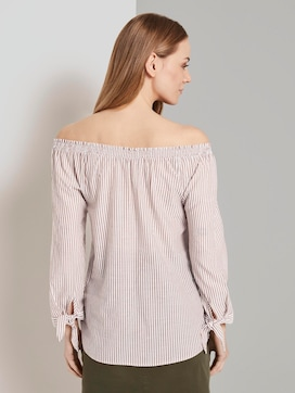 Off-the-shoulder Carmen Blouse met geknoopte detail - 2 - TOM TAILOR