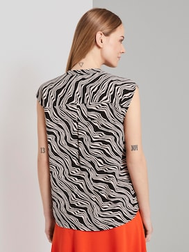 Patterned box-shaped blouse - 2 - TOM TAILOR