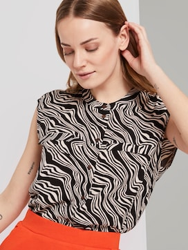 Patterned box-shaped blouse - 5 - TOM TAILOR