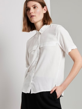 Shirt blouse with chest pockets - 5 - TOM TAILOR