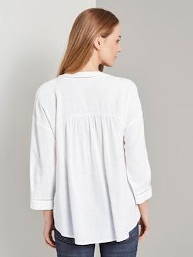 Linen-blend tunic blouse - 2 - TOM TAILOR