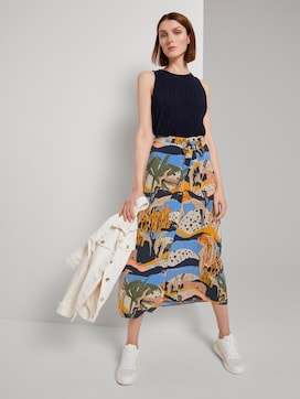 Maxi skirt with a button tab - 3 - TOM TAILOR Denim
