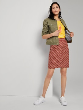 Colourful patterned jersey skirt - 3 - TOM TAILOR