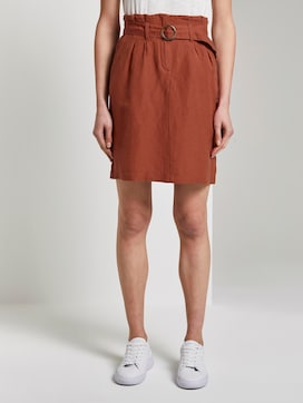 High-waisted paperbag skirt with a belt - 1 - TOM TAILOR