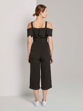 Off-the-shoulder Carmen jumpsuit with wide legs - 2 - TOM TAILOR