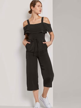 Off-the-shoulder Carmen jumpsuit with wide legs - 5 - TOM TAILOR