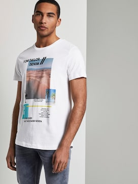 T-Shirt mit sommerlichem Collagen-Print - 5 - TOM TAILOR Denim
