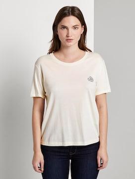 Lockeres T-Shirt mit kleiner Stickerei - 1 - Mine to five
