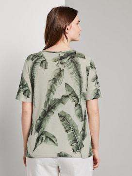 Linen T-shirt with a V-neckline - 2 - Tom Tailor E-Shop Kollektion