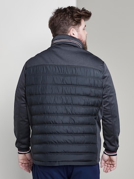 Hybrid jacket with a stowed hood - 2 - Men Plus