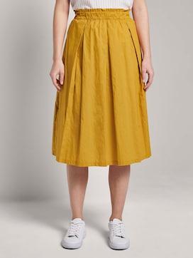 Flared midi skirt with an elastic waistband - 1 - Mine to five