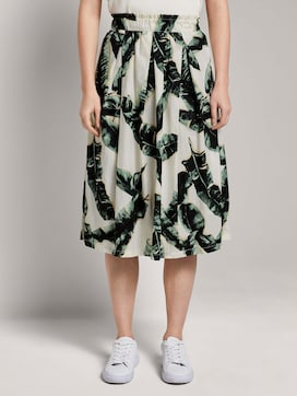 Flared midi skirt with an elastic waistband - 1 - Mine to five
