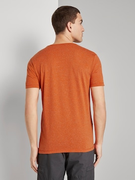 Mottled T-shirt with a print - 2 - TOM TAILOR