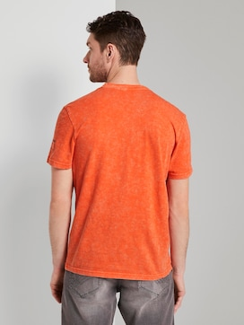 Henley T-Shirt in a washed look - 2 - TOM TAILOR