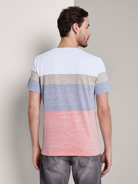 T-Shirt mit blassem Streifenprint - 2 - TOM TAILOR