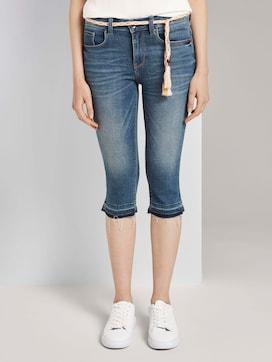 Alexa Slim Capri Jeans met schaafwonden - 1 - TOM TAILOR