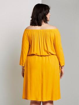Schulterfreies Midi-Kleid mit verstellbarem Bund - 2 - Tom Tailor E-Shop Kollektion