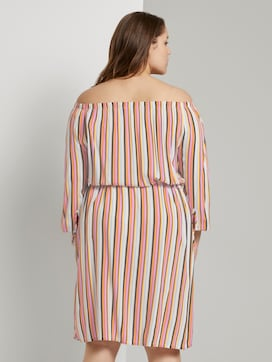 Schulterfreies Midi-Kleid mit verstellbarem Bund - 2 - My True Me
