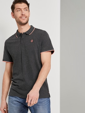 Polo shirt with contrasting stripes - 5 - TOM TAILOR