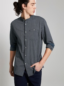 Striped shirt with a stand-up collar - 5 - TOM TAILOR Denim