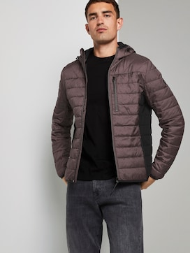 Lightweight quilted jacket with a hood - 5 - TOM TAILOR