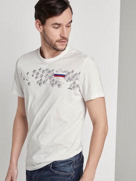 T-Shirt met Voetbal EM print - 5 - TOM TAILOR