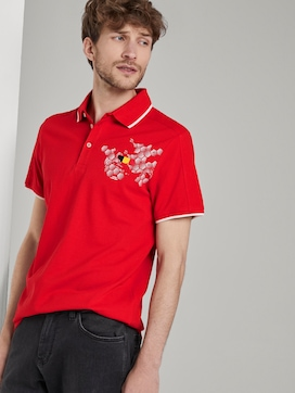 Sporty polo shirt with a European Football Championship print - 5 - TOM TAILOR