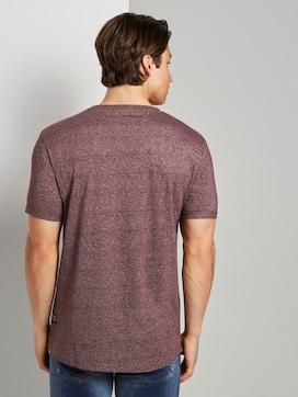 Strukturiertes T-Shirt mit Print - 2 - TOM TAILOR Denim