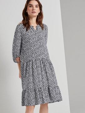 Nena & Larissa: Gemustertes Kleid mit Volants - 5 - TOM TAILOR