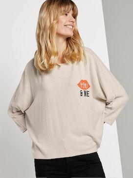 Shirt mit Fledermausärmeln und Print - 5 - TOM TAILOR Denim