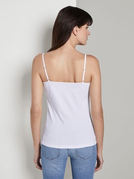 Basic top with adjustable spaghetti straps - 2 - Mine to five