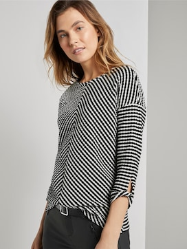Sweatshirt in Jacquard-Optik - 5 - TOM TAILOR